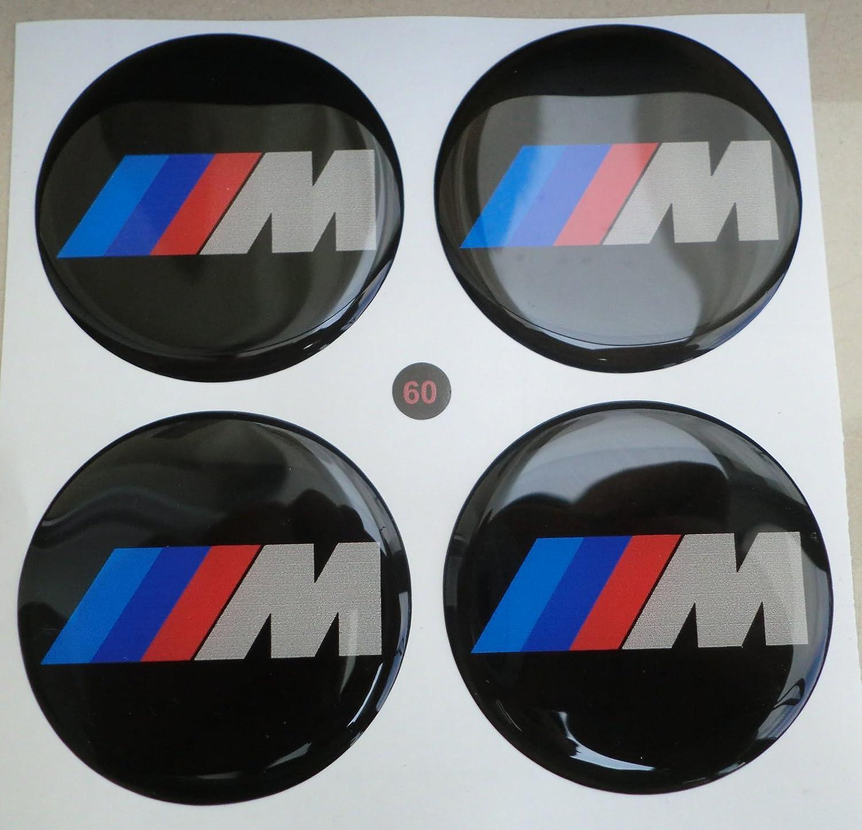 60 mm nero tuning effetto 3d 3m resinato coprimozzi borchie caps adesivi stickers per cerchi in lega x 4 pezzi GTBTUNING