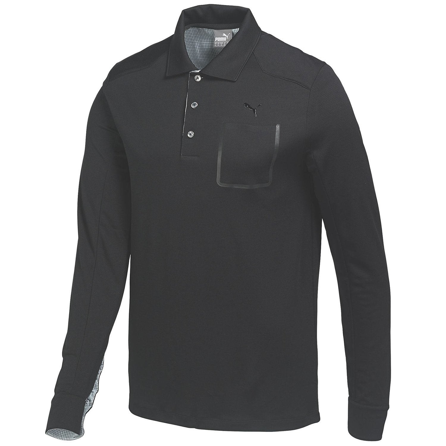 Amazon.com : Puma Golf Mens Lux Blend Long Sleeve Polo Shirt - US S - Black : Sports & Outdoors
