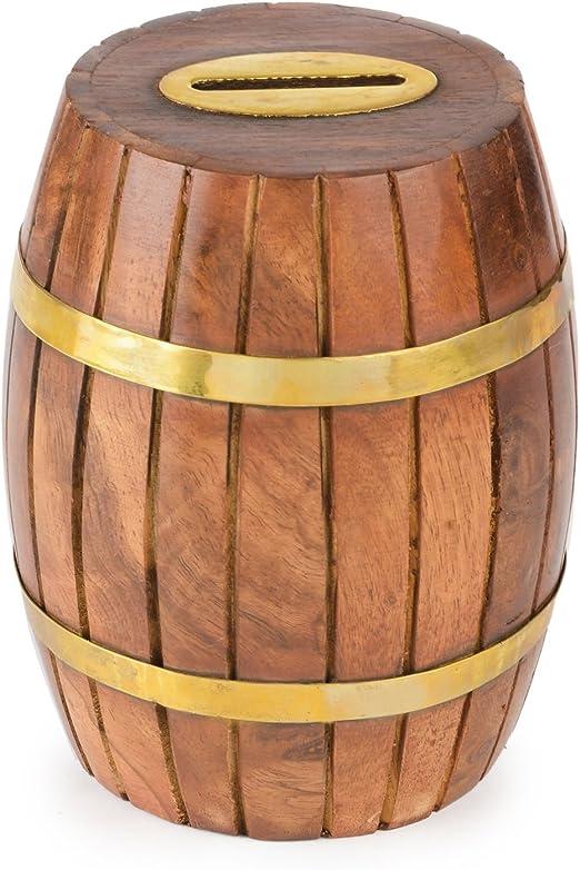 Toygogo Tonneau /à Bi/ère en Bois Vintage /à L/échelle 1:12 Verre pour La D/écoration De La 12e Maison De Poup/ée