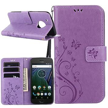 Dooki, el caso de Motorola Moto G5 Plus,Cartera de cuero del soporte del. Pasa ...
