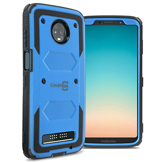 quality design 1e8d9 bfd9c CoverON [Tank Series] Moto Z3 Case, Moto Z3 Play Case, Protective Full Body  Phone Cover with Tough Faceplate for Motorola Moto Z3 / Moto Z3 Play - ...