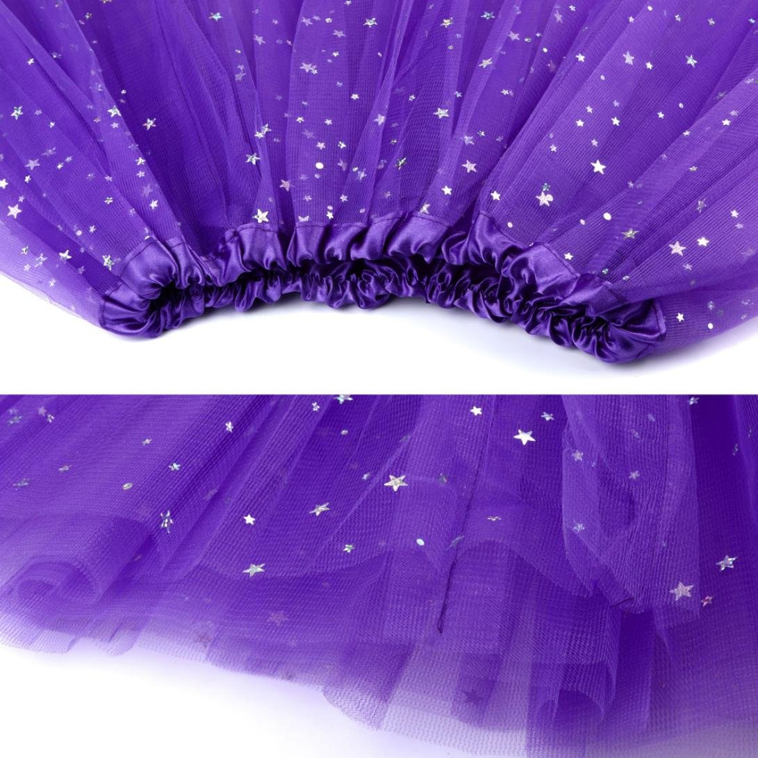 Sinwo Womens Girl Cute Pleated Gauze Short Skirt Adult Tutu Dancing Skirt Basic Skirt (Purple) by Sinwo (Image #3)