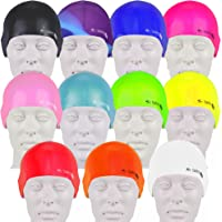 Swim Elite Seamless Silicone Swimming Cap for Adults and Junior - Training and Racing