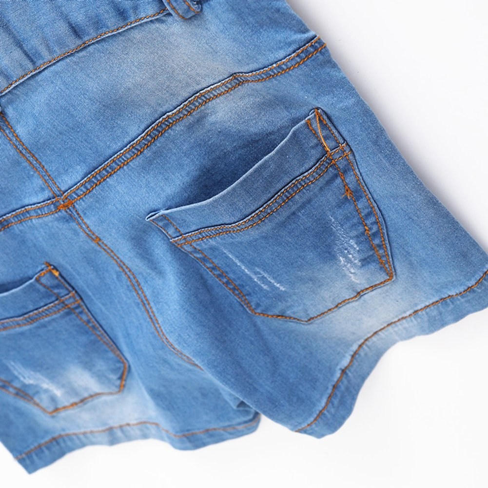 Kidscool Baby /& Little Boys//Girls Cute Blue Bib Denim Summer Shortalls Shorts Overalls