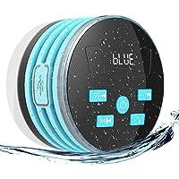 EXTSUD IPX7 Bluetooth Lautsprecher,Wasserdichte Bluetooth Lautsprecher mit FM Radio 5W Tragbarer Duschradio Wireless Lautsprecher Badradio Freisprecheinrichtungfür Outdoor, Dusche (Blau)