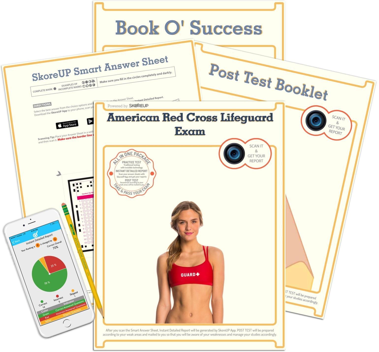 american red cross lifeguard exam lifesaver test prep study guide rh amazon com Worksheets with Answer Keys School Answer Keys