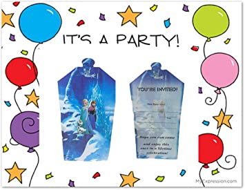 Newest Kids Birthday Metallic Invitations Cards With