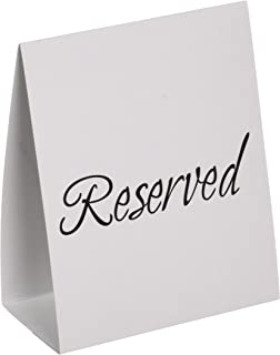 amazon com reserved signs table tents for restaurants weddings