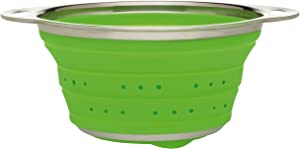 HIC Harold Import Co. 30033 Essential Collapsible Colander, Silicone/Stainless Steel, 1.5-Quart