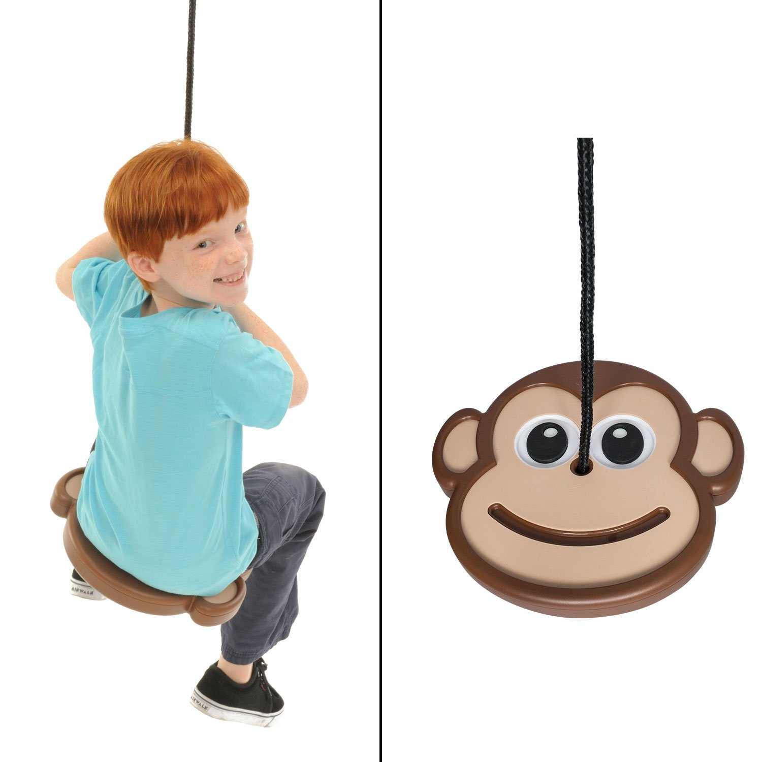 Swinging Monkey Products Monkey Disc Swing – Patent Pending, Unique Design, Tree Swing, Outdoor Play