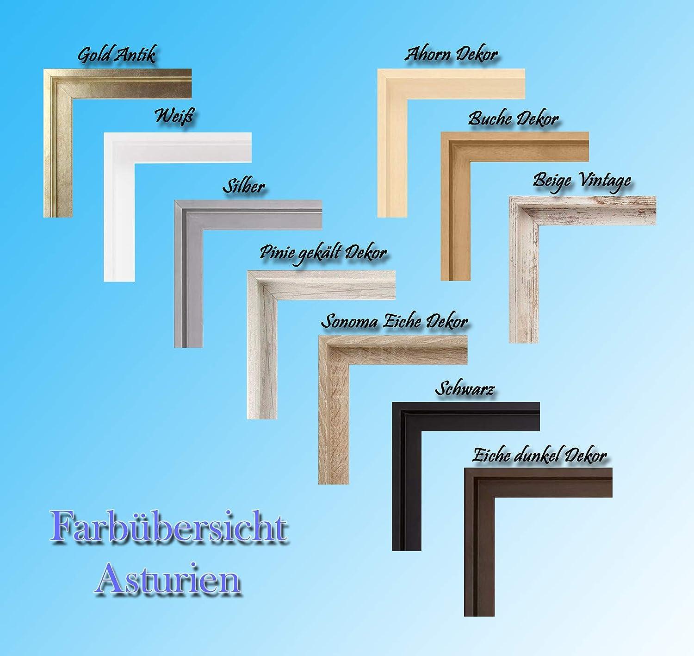 Schattenfugenrahmen in der Farbe: Schwarz MDF-Leerrahmen ASTURIEN speziell f/ür Leinwandbilder BZW Keilrahmenbilder im Format 50 x 70 cm 10 Farben zur Auswahl