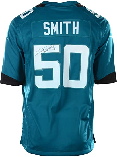 f87ea6bc Telvin Smith Jacksonville Jaguars Autographed #50 Teal Jersey - Size ...