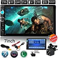 "Cavogin 2Din Car Stereo with Bluetooth,7.0"" Touch Screen Car Audio FM Radio, MP5 Player Supports USB/SD/AUX Hands Free Calling with Wireless Remote Control + Rear Camera"