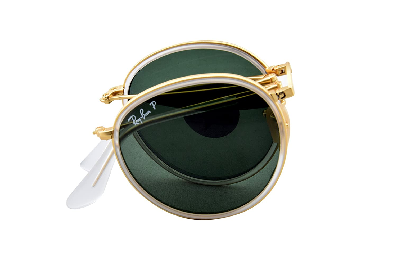 5e76f103f0ca4 Ray-Ban 3517 112 N5 Matte Gold 3517 Round Folding Classic Round Sunglasses  Pola  Amazon.co.uk  Clothing