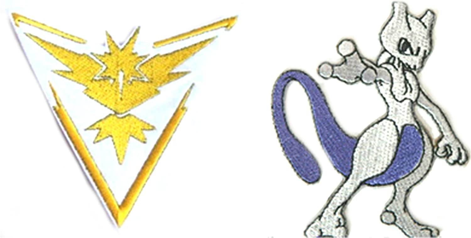 Pokemon Go Mewtwo 3 Embroidered Iron//Sew-on Patch By Outlander