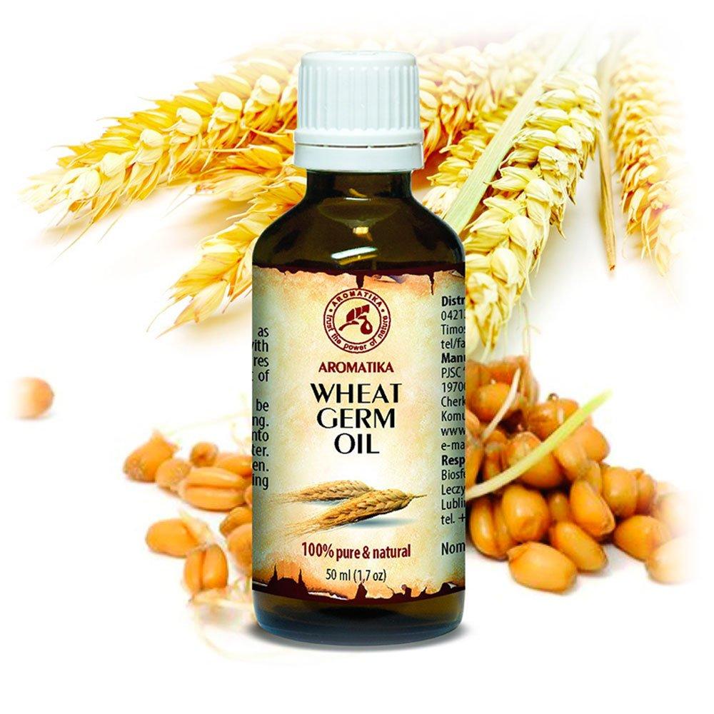 Olio Di Germe Di Grano 50ml - Puro 100% - Triticum Vulgare - USA - Olio Per Il Corpo - Cura Intensiva Per Viso - Corpo - Capelli - Pelle - Olio Di Grano - Di Aromatika
