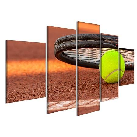 islandburner Cuadro Cuadros Pelota de Tenis y la Raqueta en una ...