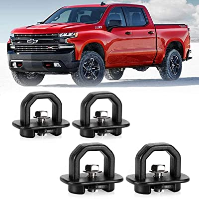 KAWELL 4 Pack Tie Down Anchors Truck Bed Side Wall Anchors Fits Chevy Silverado GMC Sierra Chevy Colorado GMC Canyon: Automotive