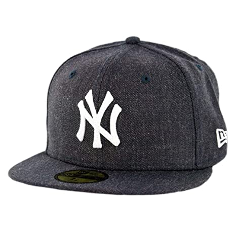 Heathered Navy New Era New York Yankees Crisp 59FIFTY Fitted Hat