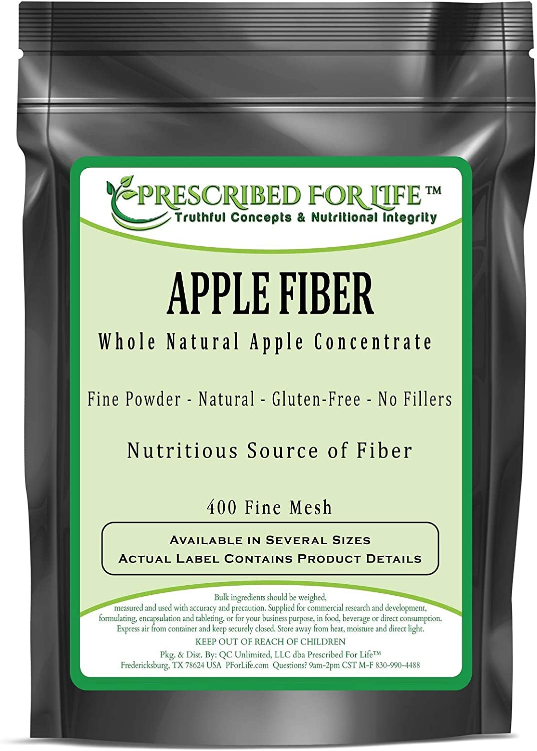 Prescribed for Life Apple Fiber - Whole Non-GMO Natural Apple Concentrate Powder - No Fillers, 1 kg