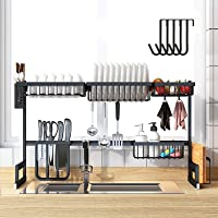 BRIAN & DANY Over Sink Dish Drying Rack, Multifunctional Large Dish Drainers for Kitchen, Stainless Steel Storage…