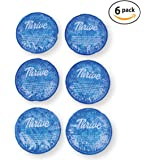 Round Hot & Cold Packs (6 PACK) - Heat or Ice Therapy - Flexible reusable gel beads with cloth fabric backing - Great For: Wisdom Teeth, Breastfeeding, Tired Eyes, Injuries, Headaches, Sinus Relief