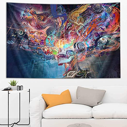 Third Eye Tapestries Android Jones Forward Escape Tapestry 60 by 90 INCHES