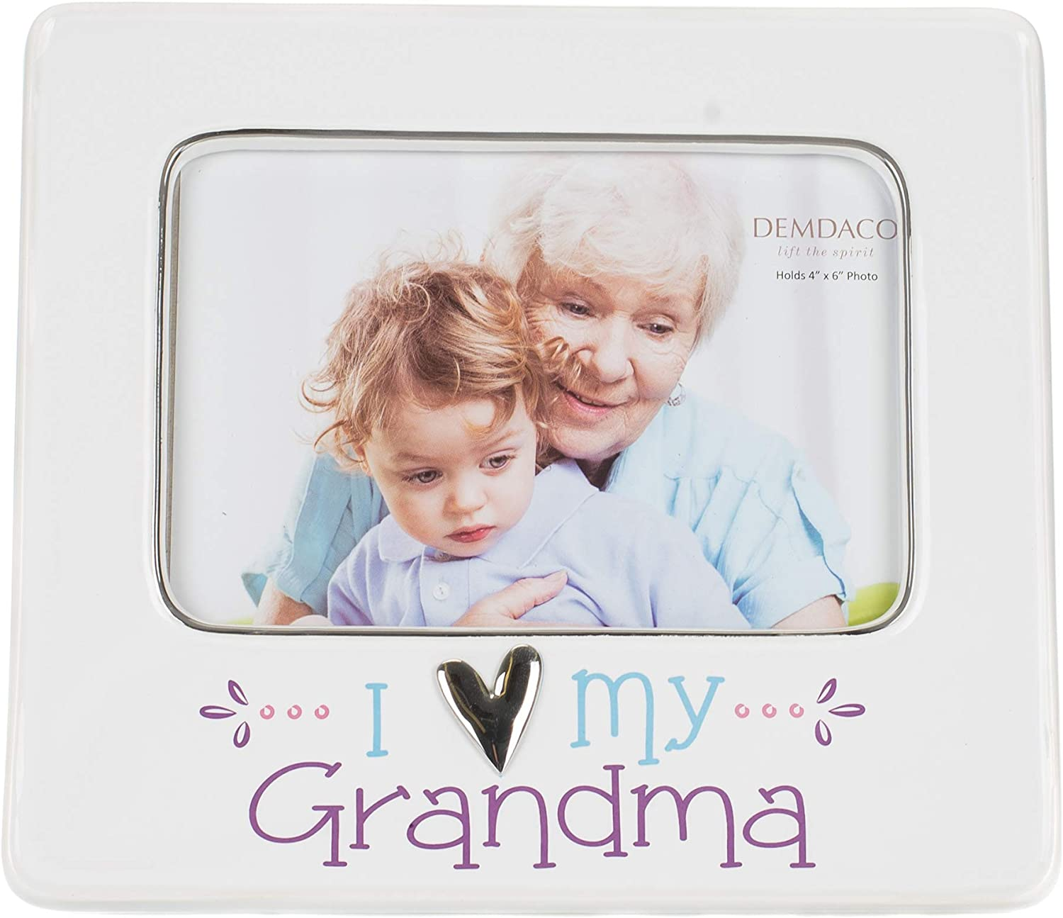 DEMDACO I Heart My 8 x 7 Ceramic with Metal Accents Picture Frame