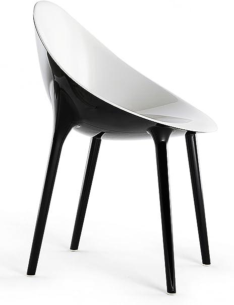 Kartell Super Impossible Chaises, Blanc, 57 x 53.5 x 55 cm
