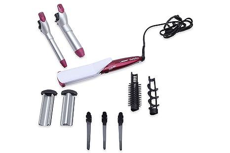 BaByliss Multistyler MS21E - Set moldeador de pelo 10 en 1 con tenacillas y planchas de pelo para alisar, ondular y crimpar