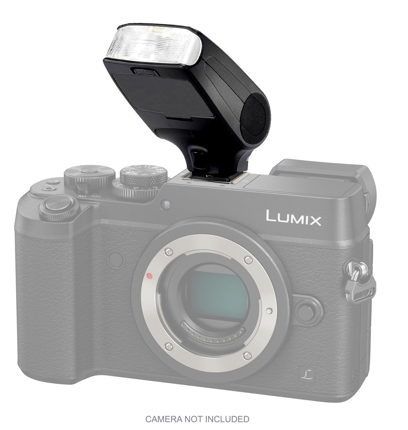 Bounce, Swivel Head Compact Flash for Panasonic Lumix DMC-GX8 by Digital Nc