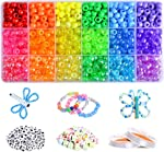 VICOVI 2250+pcs Pony Beads Kit in 18 Colors, Rainbow Color Beads