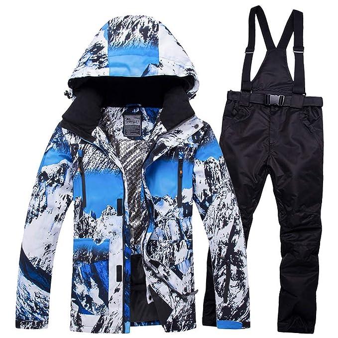 Amazon.com: Traje de esquí cálido para hombre, impermeable ...