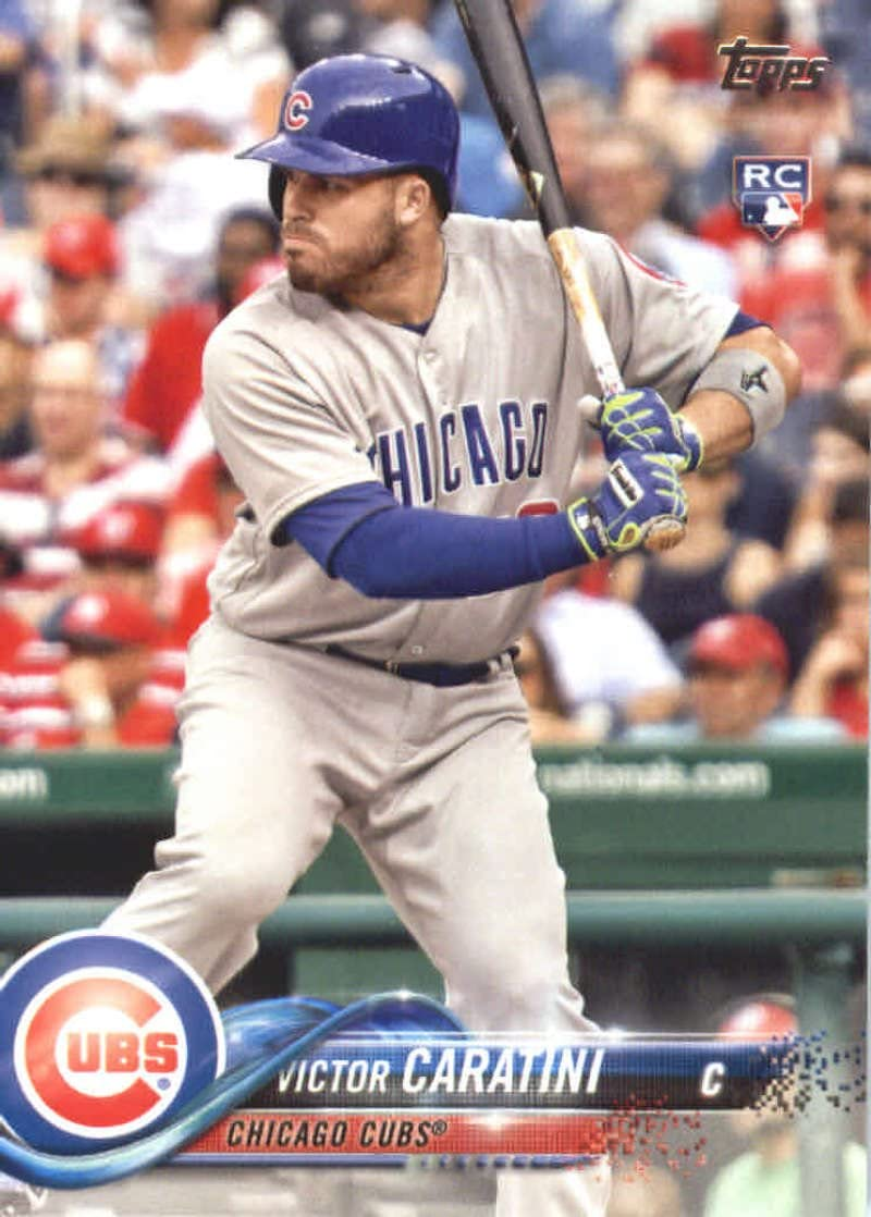 2018 Topps Series 2#422 Victor Caratini Chicago Cubs Rookie Baseball Card GOTBASEBALLCARDS