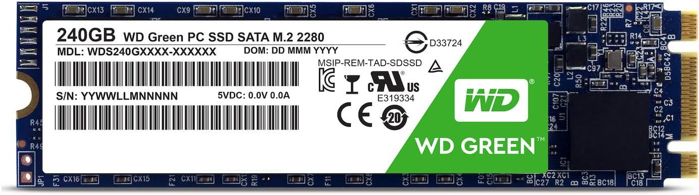 WD Green M.2, disco de estado sólido (SSD) interno de 240 GB ...