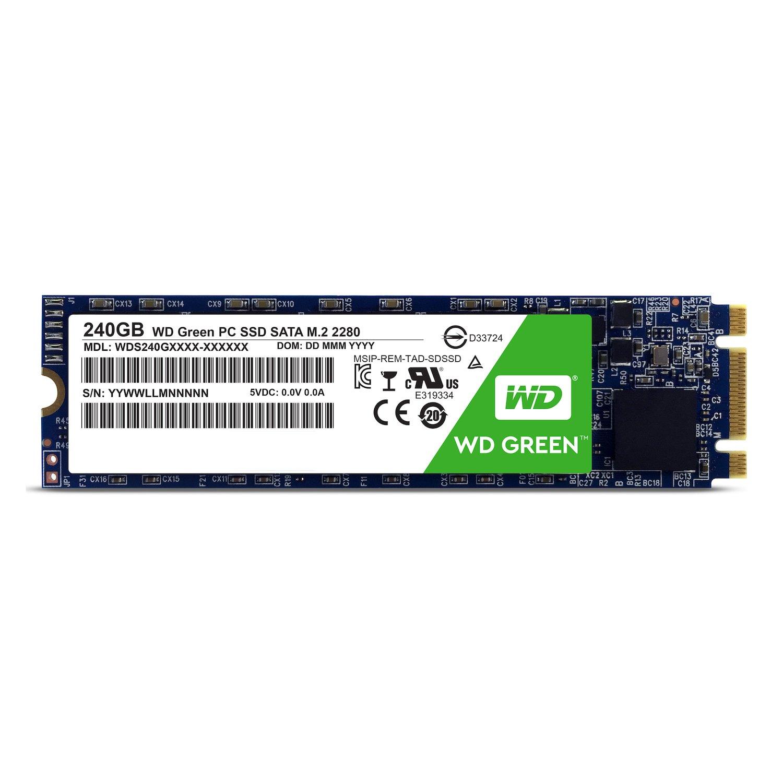 Amazon Western Digital 240GB Green M 2 2280 Internal Solid State Drive Model WDS240G1G0B puters & Accessories