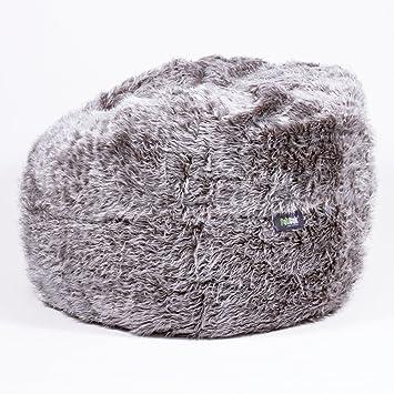 Fatsak Fs1000 Bag Cover Flokati Grau Amazonde Küche Haushalt