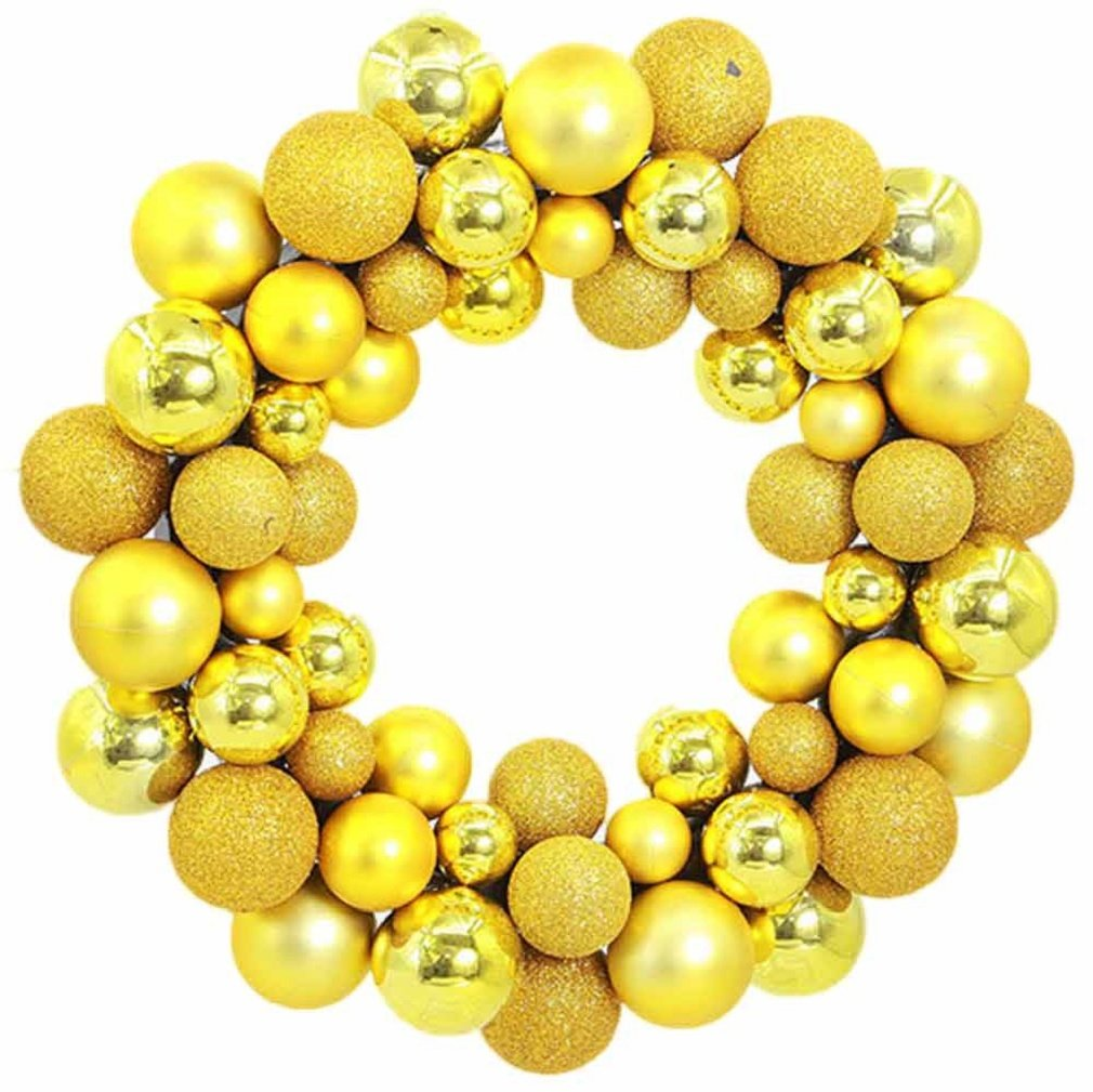 Amazon.com: WER Colorful Balls Christmas Wreath Garland Ornaments ...
