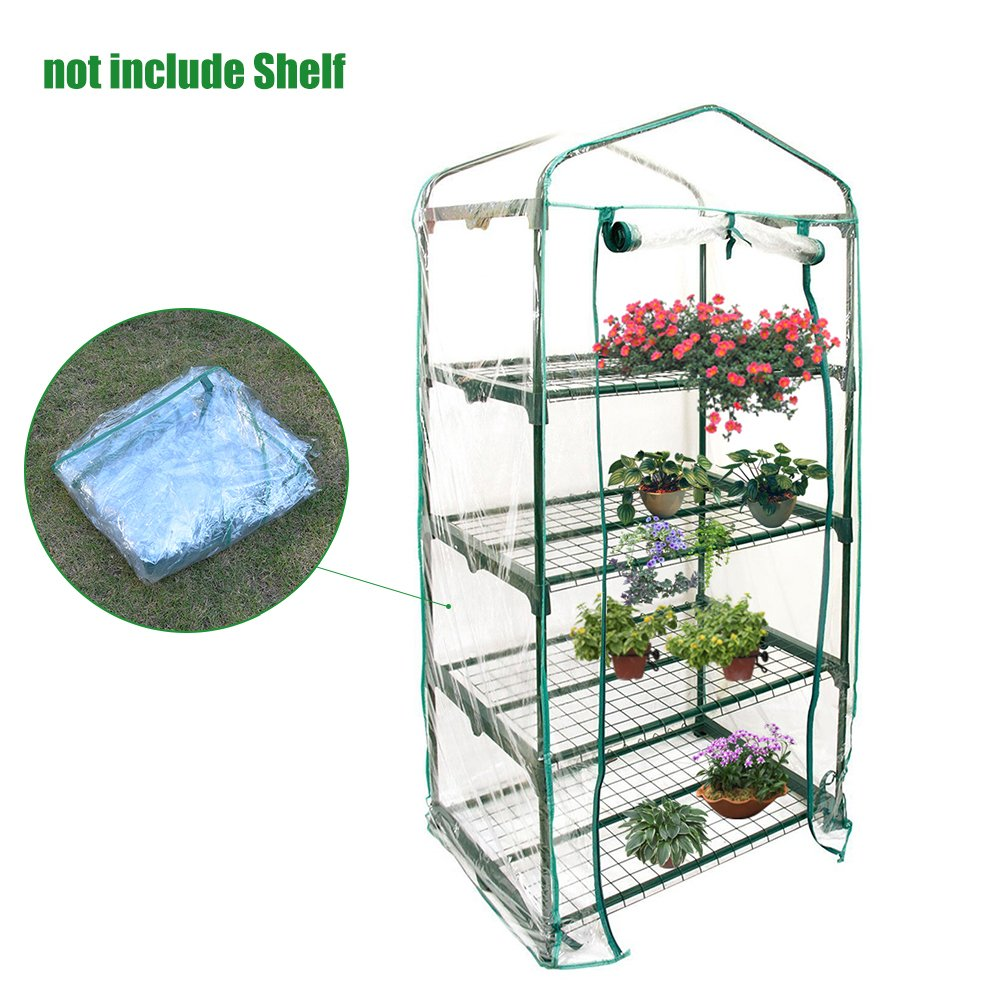 cheerfulus Garden Plant Cover 4 Tier Mini Greenhouse Cover (Only Cover, Without Iron Stand, Flowerpot)