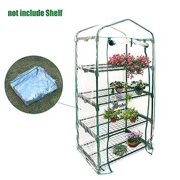 Hearthrousy 3/4/5-Tier Mini Serre de Jardin PVC Plastique Tente abri ...