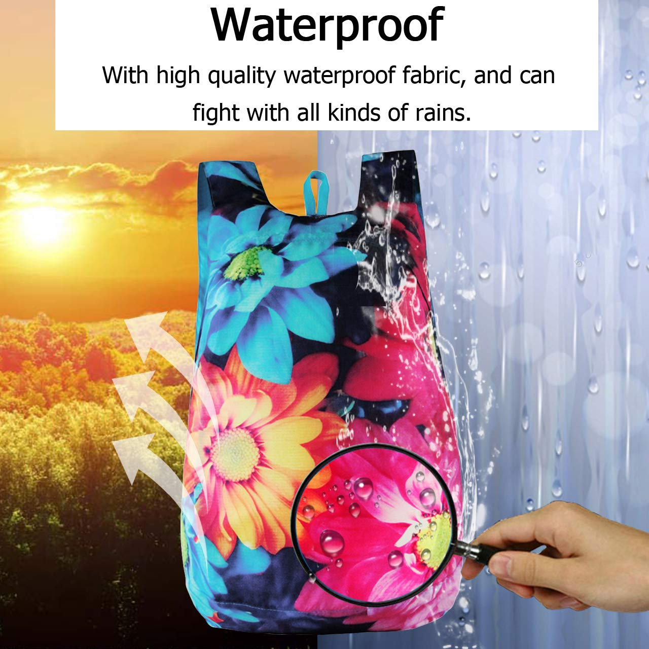 Ayliss Foldable Backpack Ultra Lightweight Waterproof Packable Daypack for Women//Men