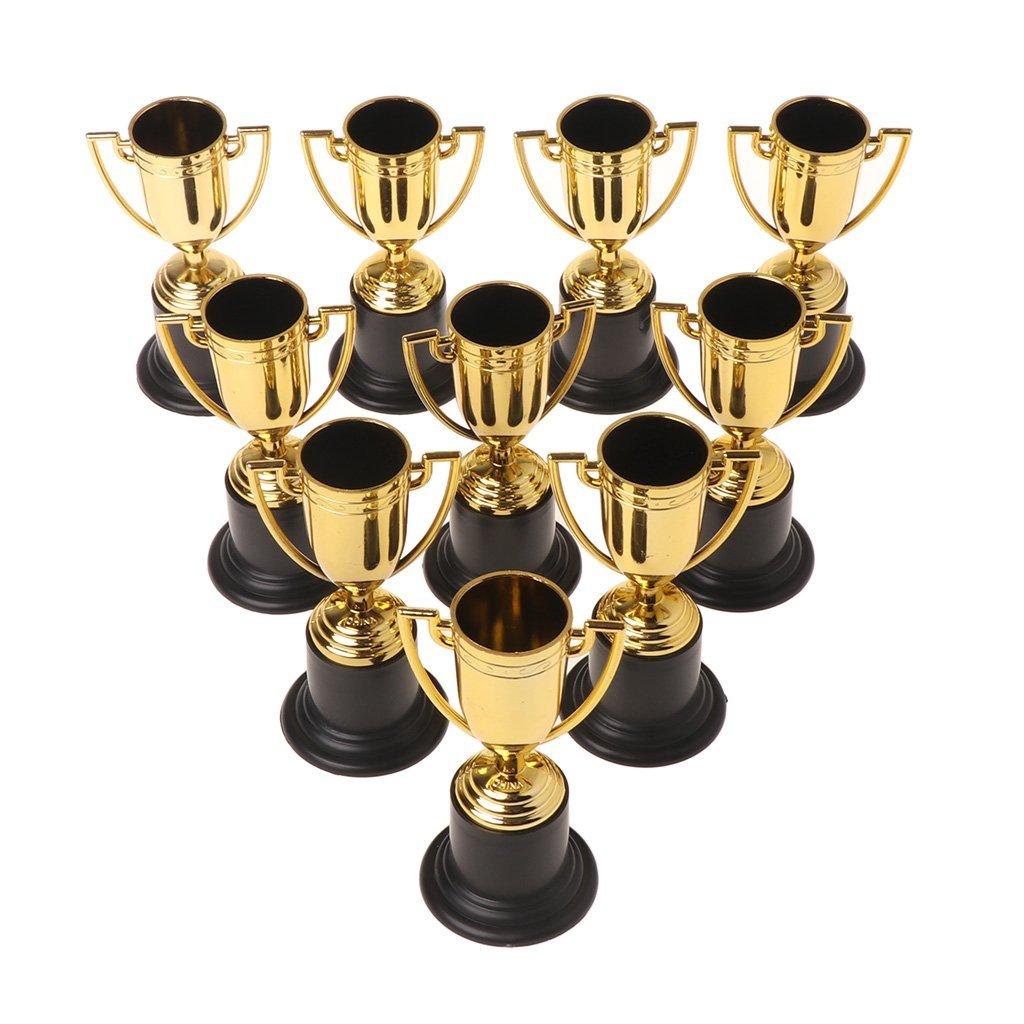 Dabixx 10pezzi oro coppe sport Trophy Winner giocattoli educativi puntelli bambini ricompensa premi
