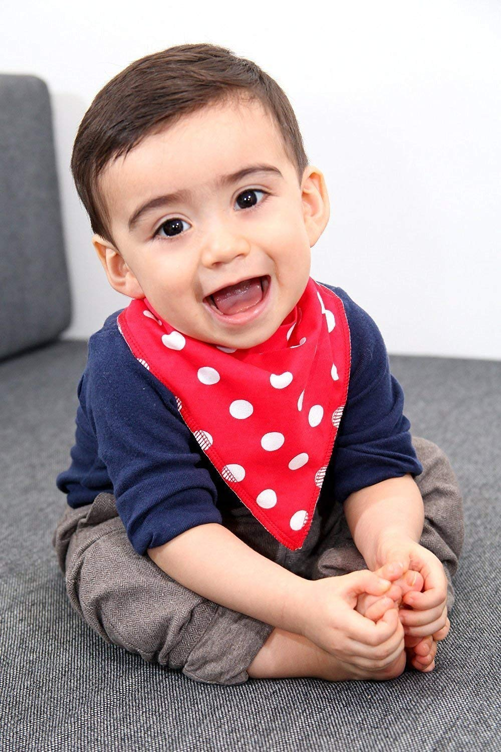 iZiv 4 PACK Baby Bandana Drool Bibs with Adjustable Snaps Color-12 Absorbent Soft Cotton Lining 0-2 Years
