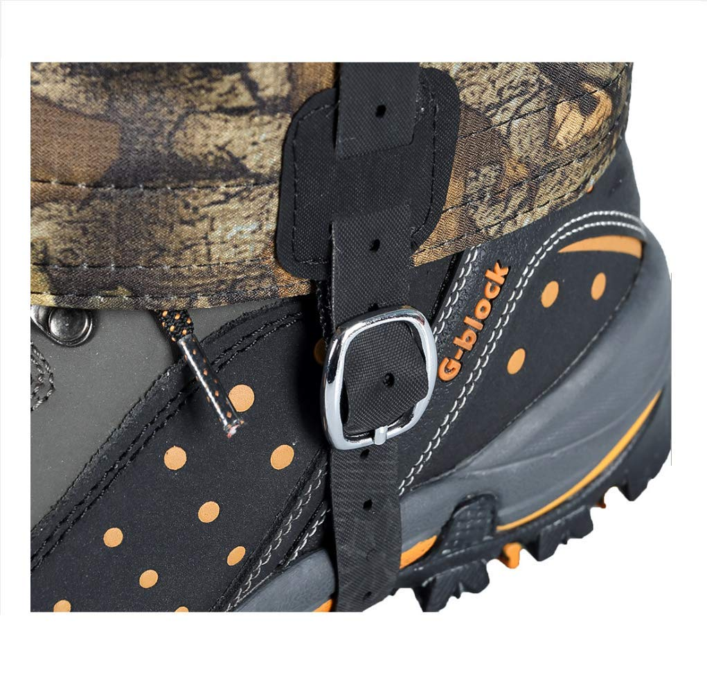 Escursioni Huenco Outdoor Camouflage Snowproof Scarponi da Neve Impermeabili Ghette Legging Gaiter Alta Protezione per Le Gambe per Escursioni Caccia. Arrampicata