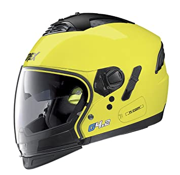 Amazon.es: Casco Moto Jet Modular Grex g4.2 Pro Kinetic N-Com M KINETIC N-COM 006 LED YELLOW