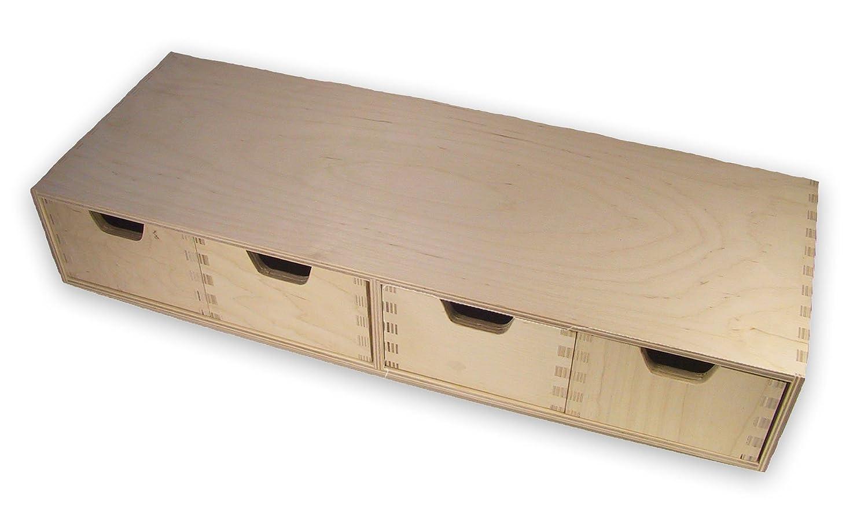 Amazing Stabiles Schubladen Regal, Wandregal, Mit 4 Schubladen, Holz Unbehandelt:  Amazon.de: Küche U0026 Haushalt