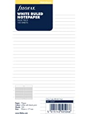 Filofax Personal Ruled Notepaper Value Pack - White