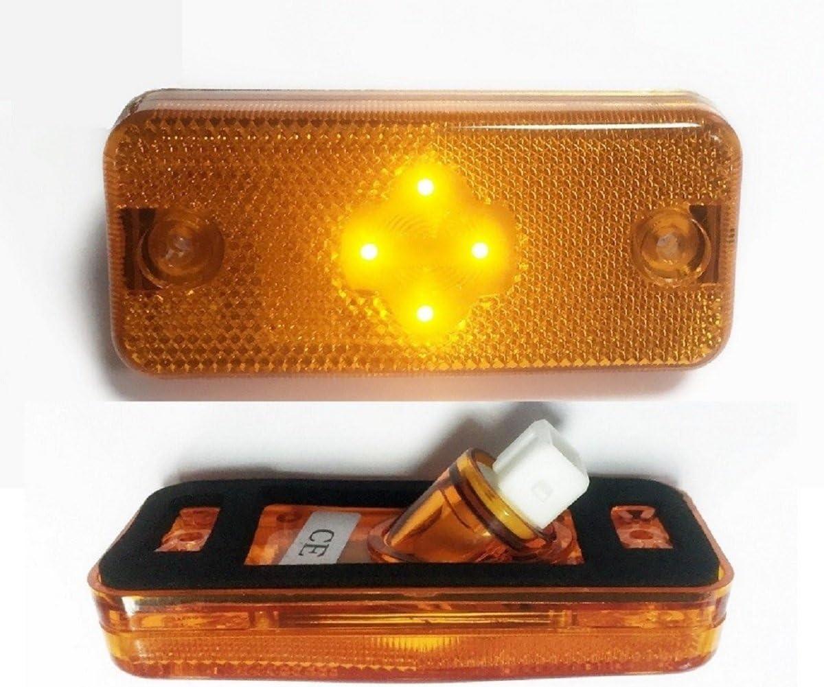 Ducato 2006/ Kerax FM2 2/x LED Orange Indicateur Side Marker lumi/ères Lampes pour Fe2 Midlum Magnum Relais 2006/ Boxer Premium