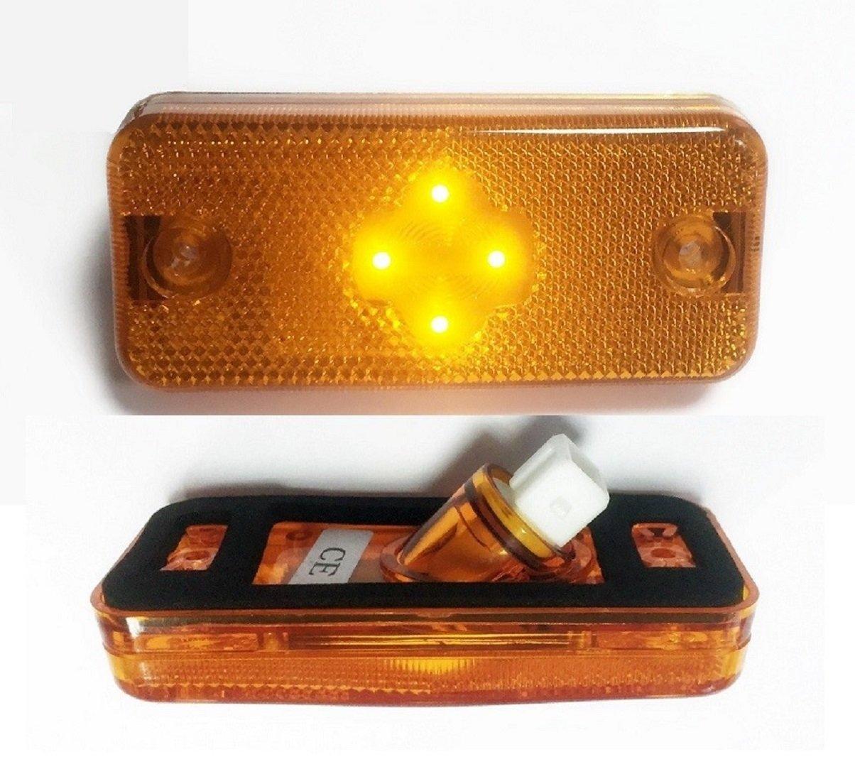 2x LED Blinker orange Seitenmarkierungsleuchten fü r FE2, FM2, DUCATO 2006>, Boxer 2006>, Midlum, Relay Premium, Kerax, Magnum VNES