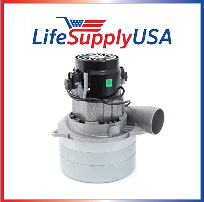 "Central Vac Vacuum Motor 3 STAGE with METAL HORN and Wires Will Fit Most Brands 5.7"" 120 Volt 1400 Watt by LifeSupplyUSA"